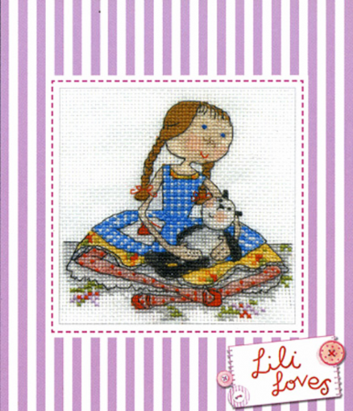 Lili Loves Pickle Cross Stitch Kit